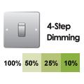 Aan-uit 4-stap dimbaar