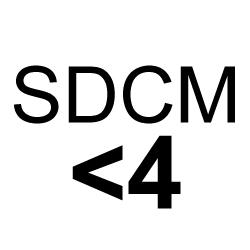 SDCM <4